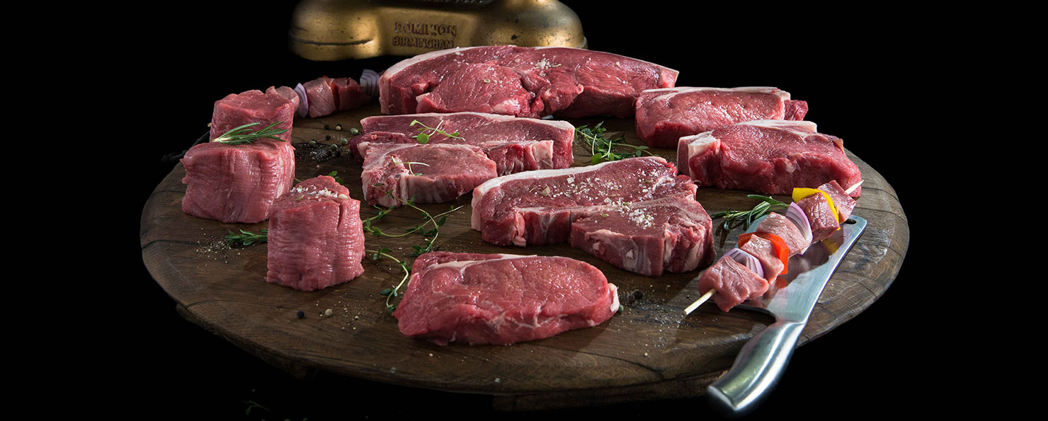 Primal cuts steak range