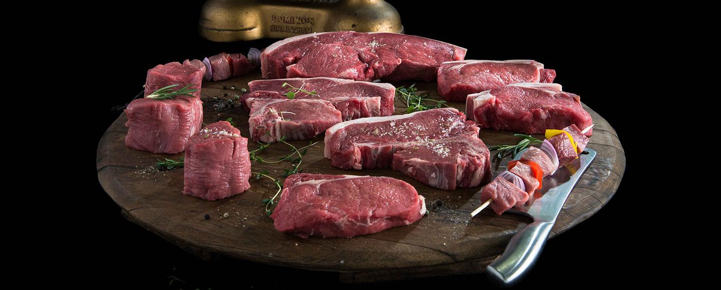 Primal cuts steak range
